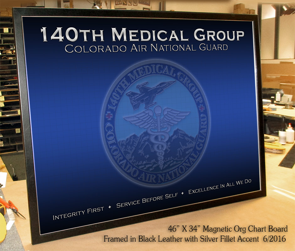 140th Medical Group - Colorado National Guard - Magnetic Org Chart from Badge Frame