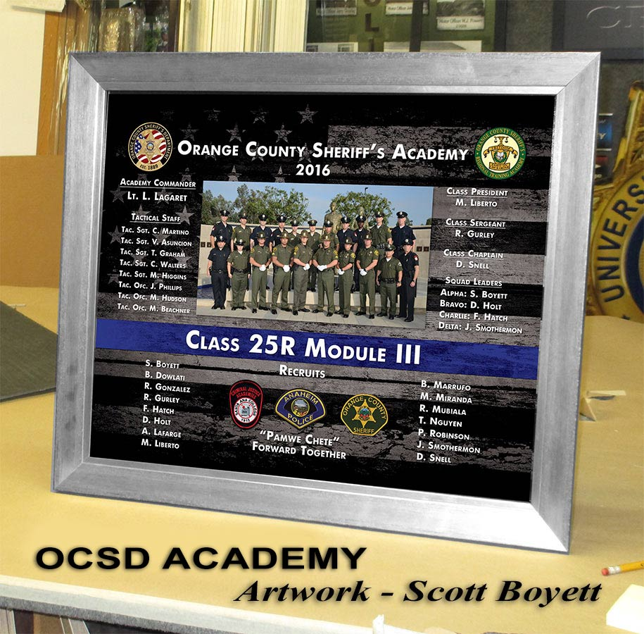 LASD Academy - 25R Presentation from Badge Frame 9-2016 - Artwork by Scott Boyett