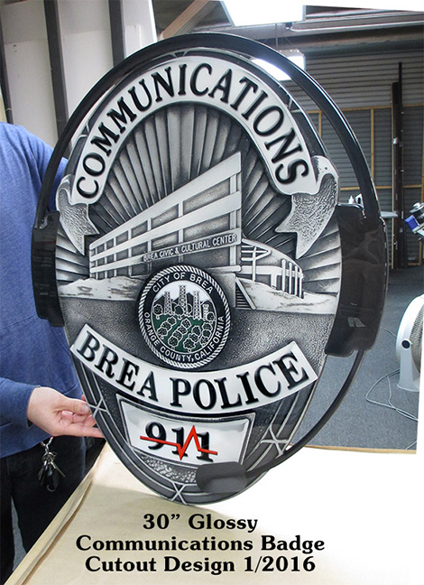 Police Dispatcher S Projects From Badge Frame