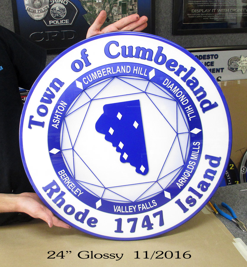 Town of Cumberland Seal from Badge Frame 11/2016