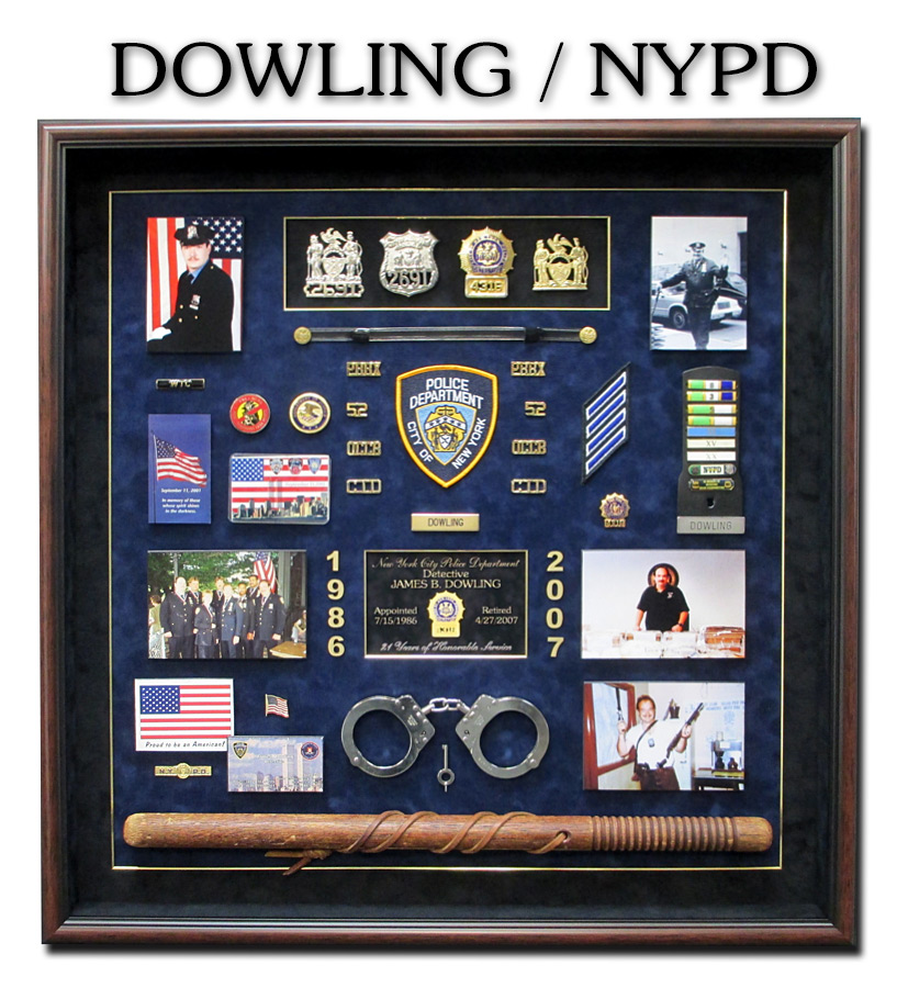 NYPD             Police Shadowbox from Badge Frame