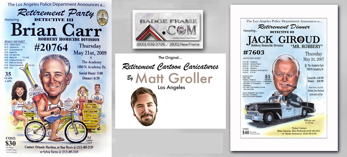 Caricatures And Retirement Flyers By Matt Groller Mike