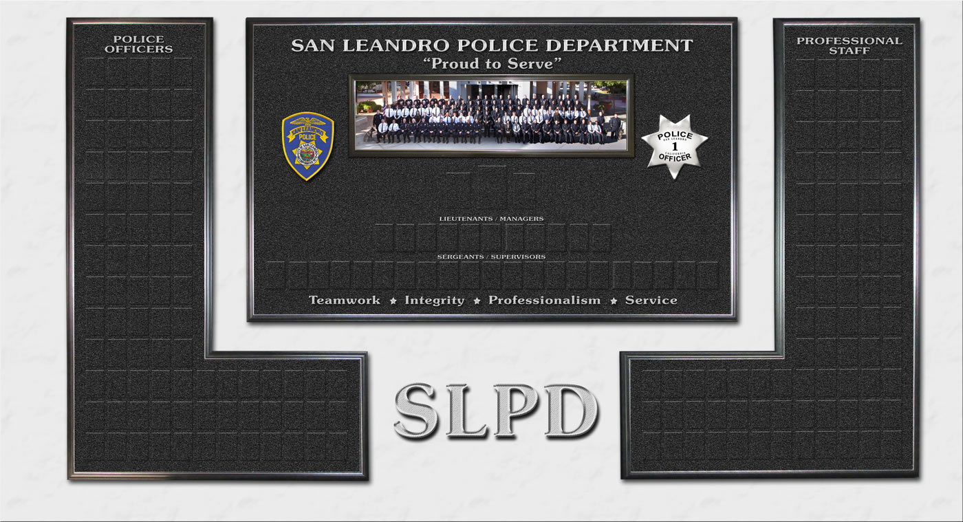 San Leandro PD Magnetic Org Chart 2013