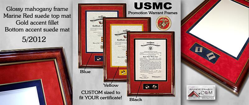U.S.M.C. Warrant Frames