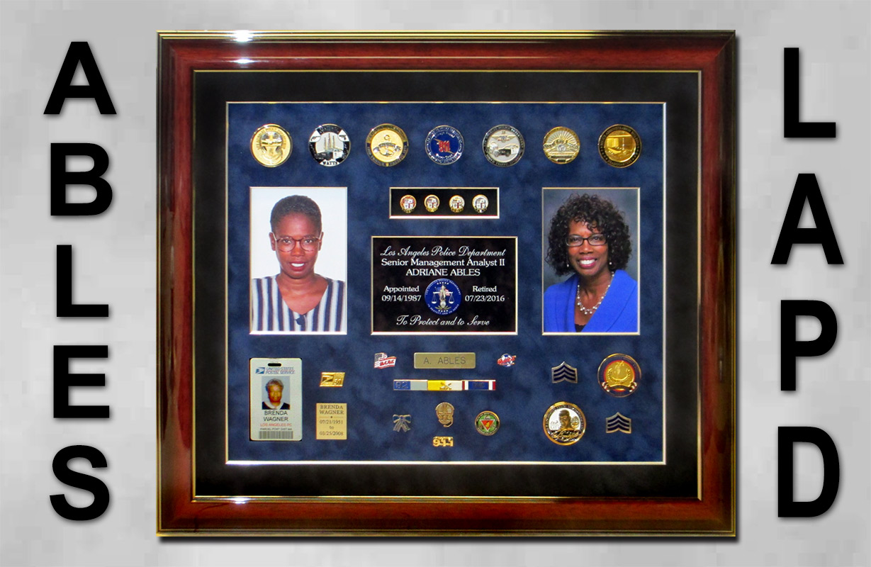 dispatch, police projects, lapd, badge frame