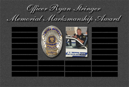 Ryan Stringer - Alhambra Shooting plaque
