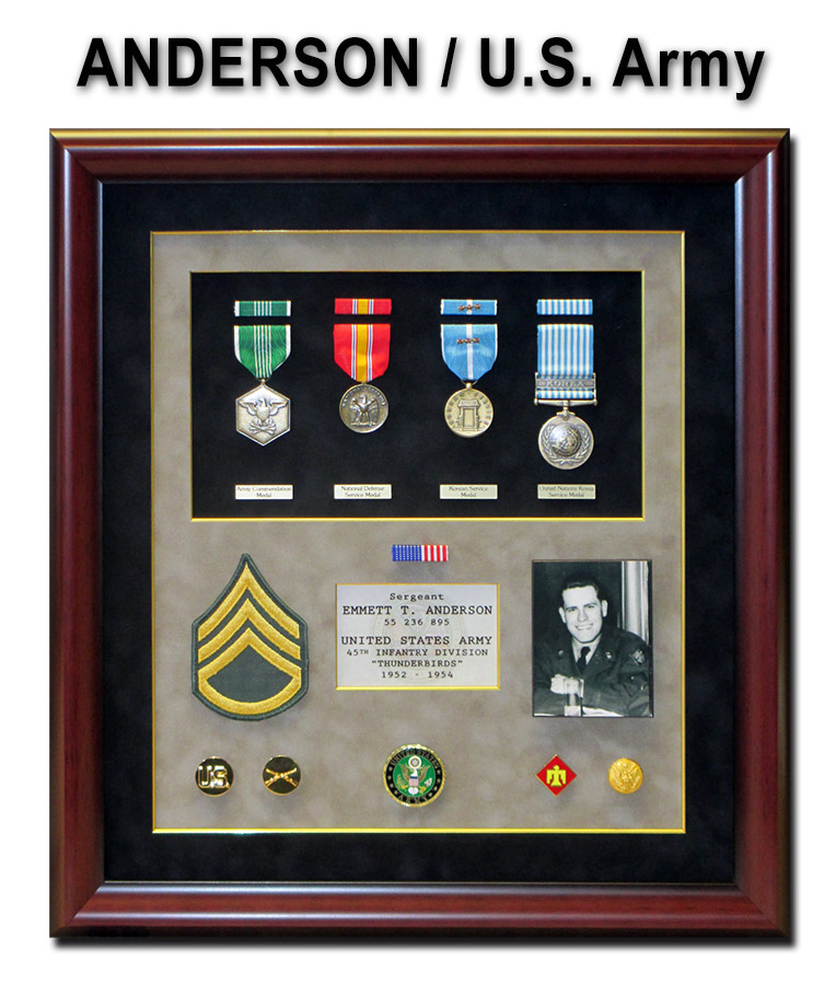 Anderson - U.S. Army presentation from Badge Frame