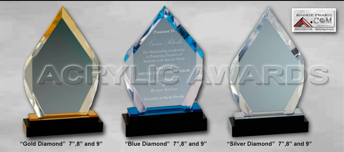 New Law Enforcement Acrylic Awards from Badge Frame