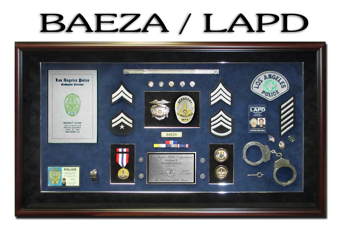 LAPD Police Shadowbox for Baeza fromBadge Frame
