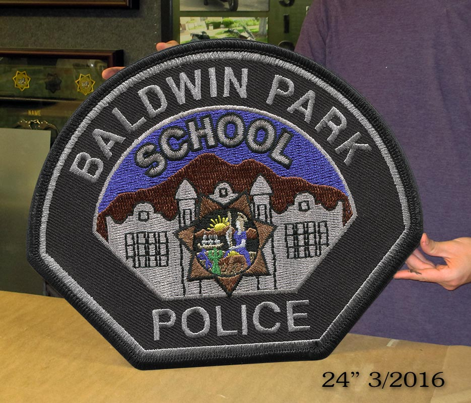 Baldwin Park School District           Patch from Badge Frame 3/2016