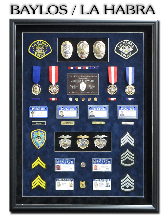Baylos - La Habra PD - Police Retirement Shadowbox