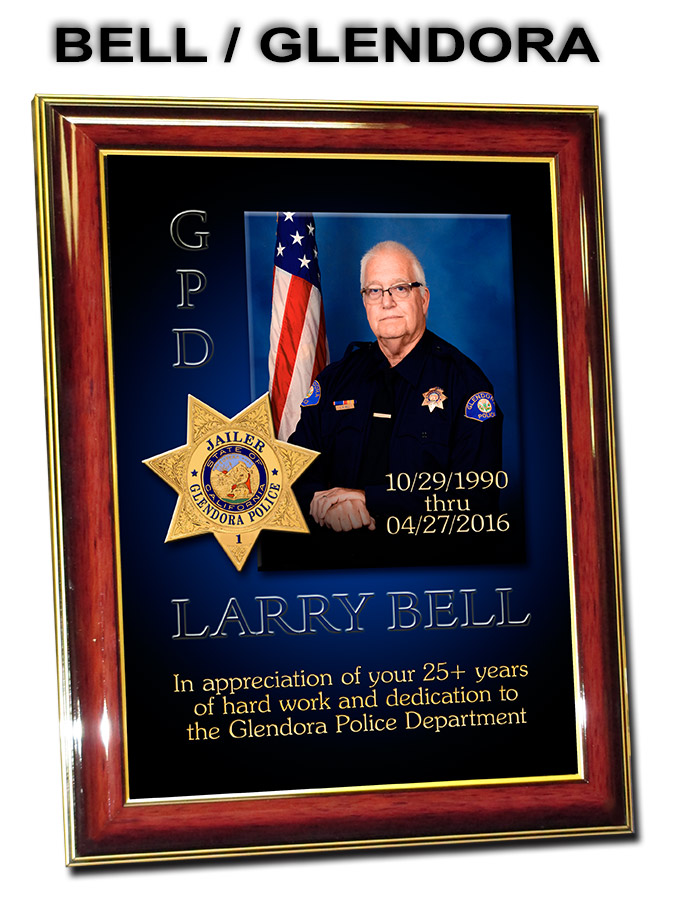 Larry Bell -           Glendora PD Jailor Presentation from Badge Frame