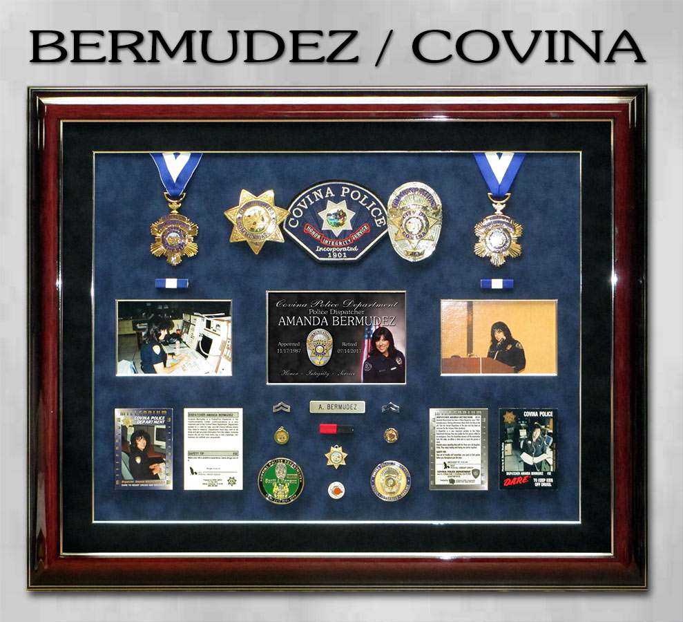 Bermudez / Covina PD retirement presentation from Badge Frame