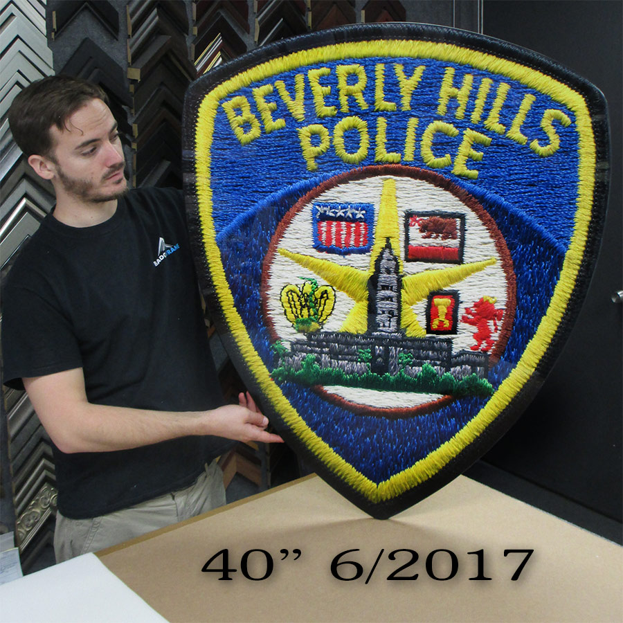 Beverly           Hills Police Department Oversize Patch from Badge Frame