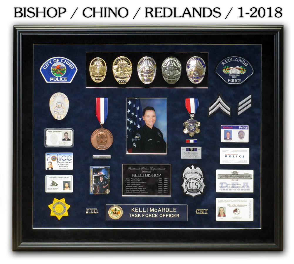 Bishop / Chino & Redlands PD presentation from Badge Frame