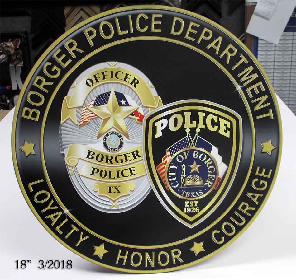 Broger PD / Podium Emblem from Badge Frame