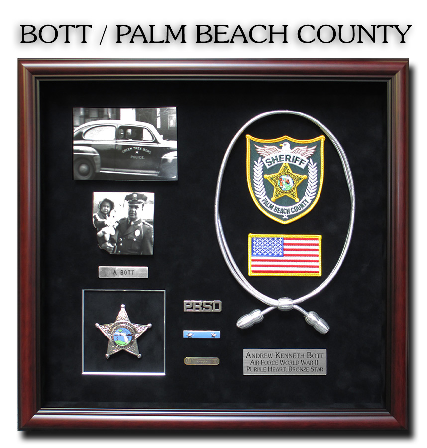 Bott - Palm Beacj County Sheriff           presentation from Badge Frame