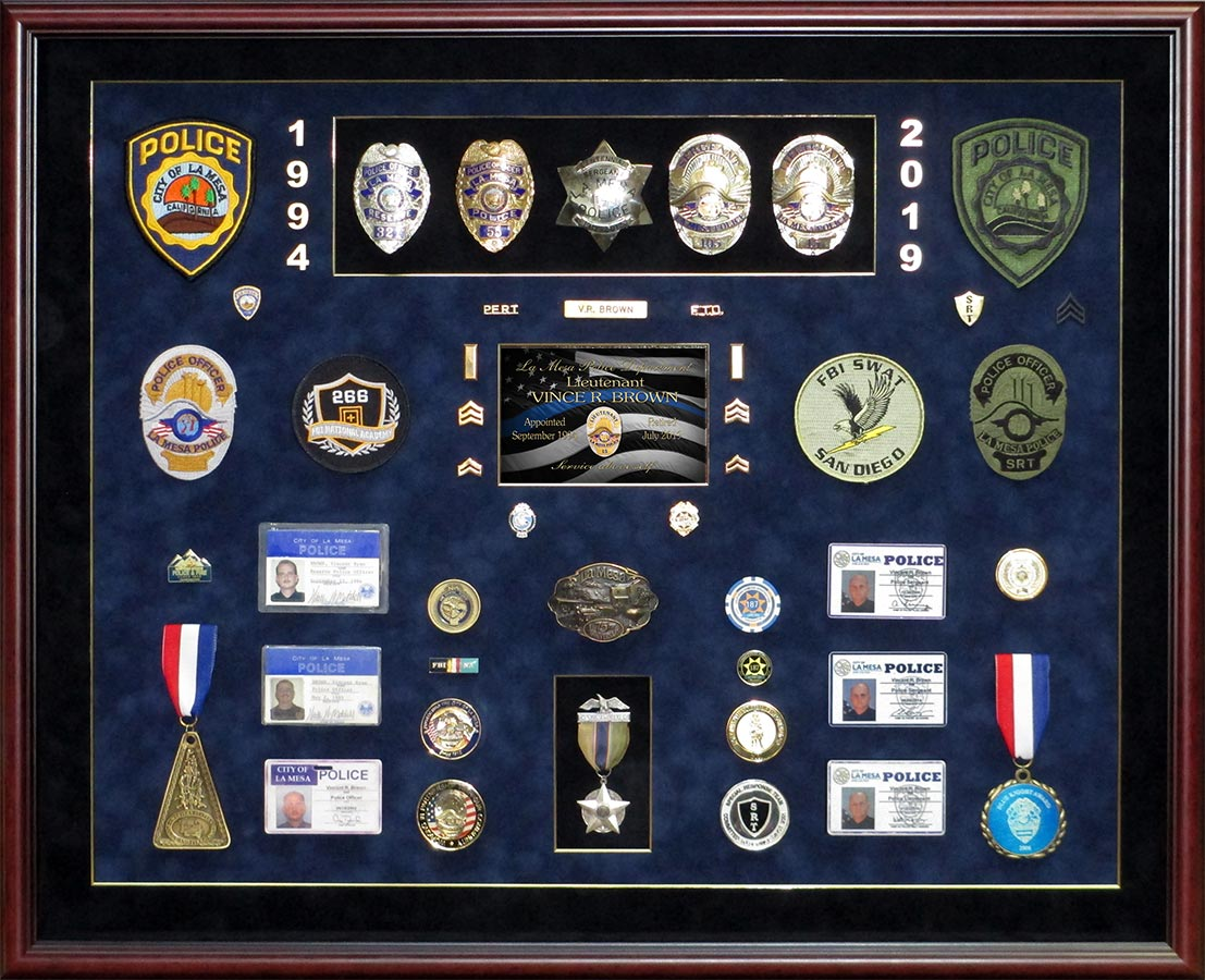 Badge Frame - Shadowboxes and wall presentations for Police, Sheriff