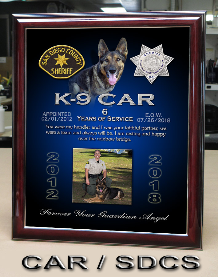 Car / San Diego County Sheriff K-9