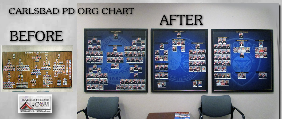 Carlsbad PD                             Organizational Chart - Before & Afters                             from Badge Frame