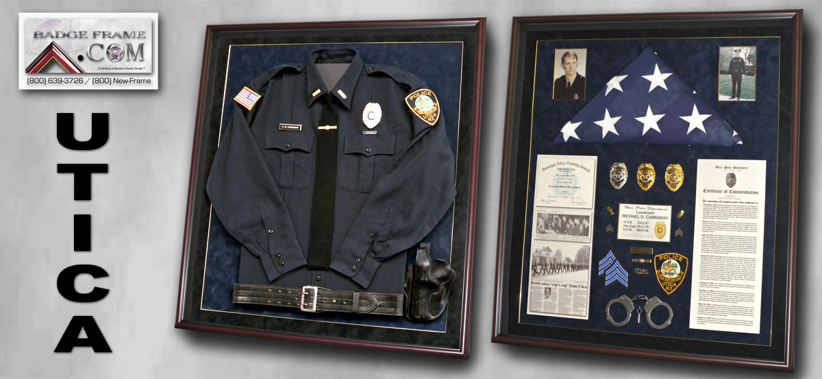 Carraway - UTICA PD - New York : shadow box military uniform - Aboutintivar.Com
