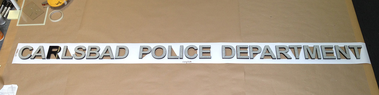 Wall Lettering from Carlsbad PD