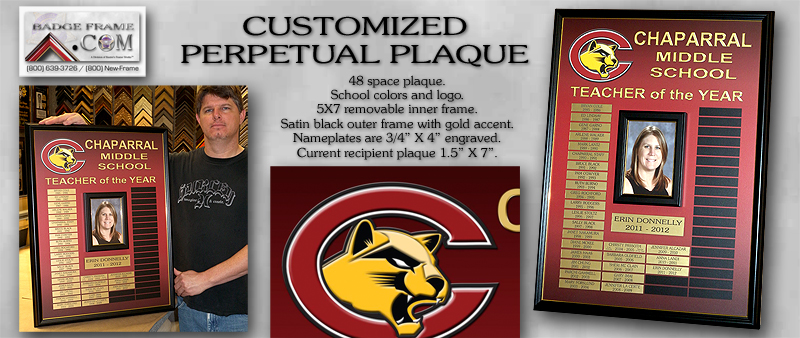 Chapparal Middle School - Perpetual Plaque