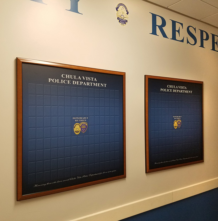 Chula Vista PD projects from Badge Frame