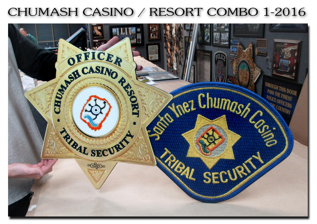 Chumash Casino / Resort PD Combo               from Badge Frame