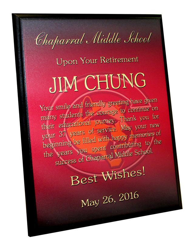 recognition plaque,               badge frame, chung