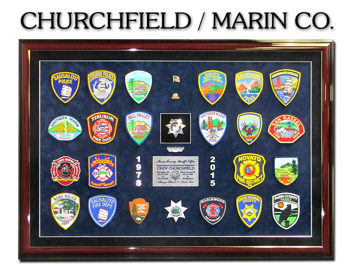 Patch collections with Badge           Frame, Sheriff and Dispatch Collection