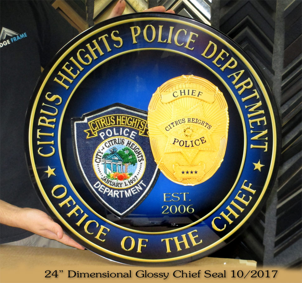 Citrus Heights PD Chief Seal from Badge Frame