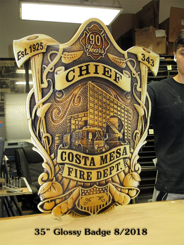 Costa Mesa Fire - Oversize Badge