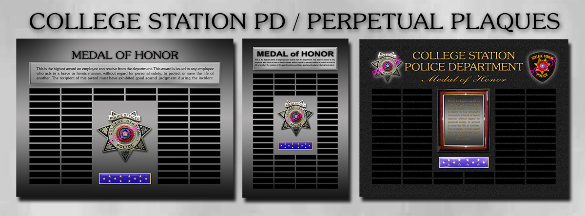 College Station PD - Perpetual Plaques