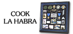 Badge Frame - Police Shadow Box - Richard                   Cook - La Habra PD