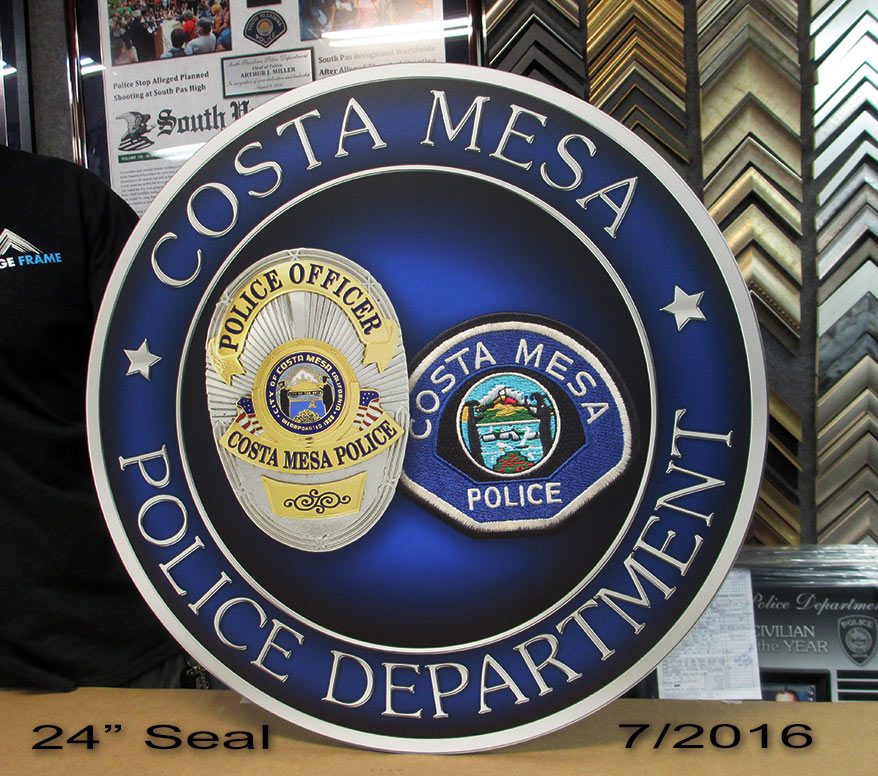 Costa Mesa PD Seal from Badge Frame