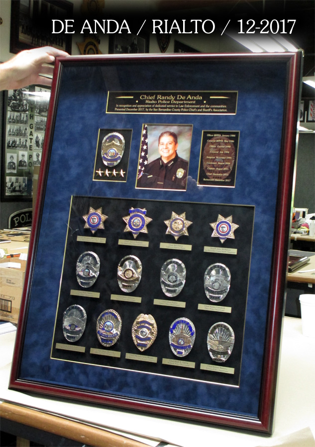 De Anda - Rialto PD Chief Retirement Presentation from Badge Frame