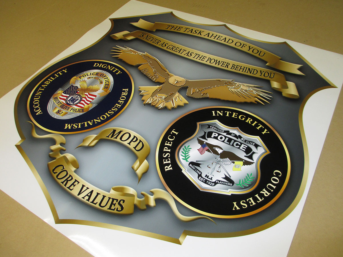 Police Emblem Decal from Badge Frame