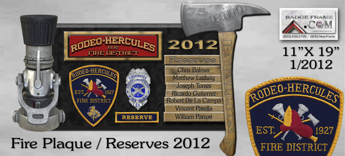 rodeo-hercules Fire Dept. 2012 Reserves