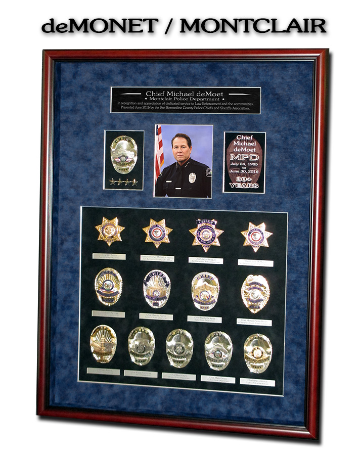 Chief deMonet - Montclair PD Retirement Presentation from Badge Frame