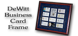 DeWitt / Business Card Frame