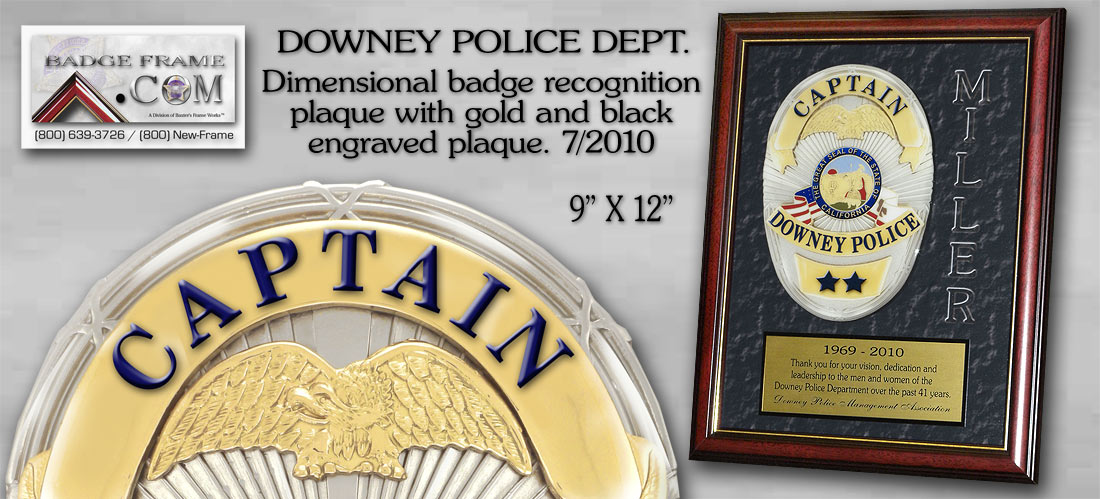Downey         PD - Recognition Plaque