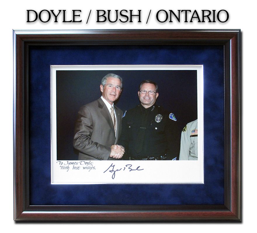 Badge Frame, Doyle,                      President Bush, Ontario PD