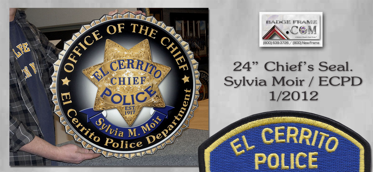 "SCPD Chief Moir - 24"" Seal"