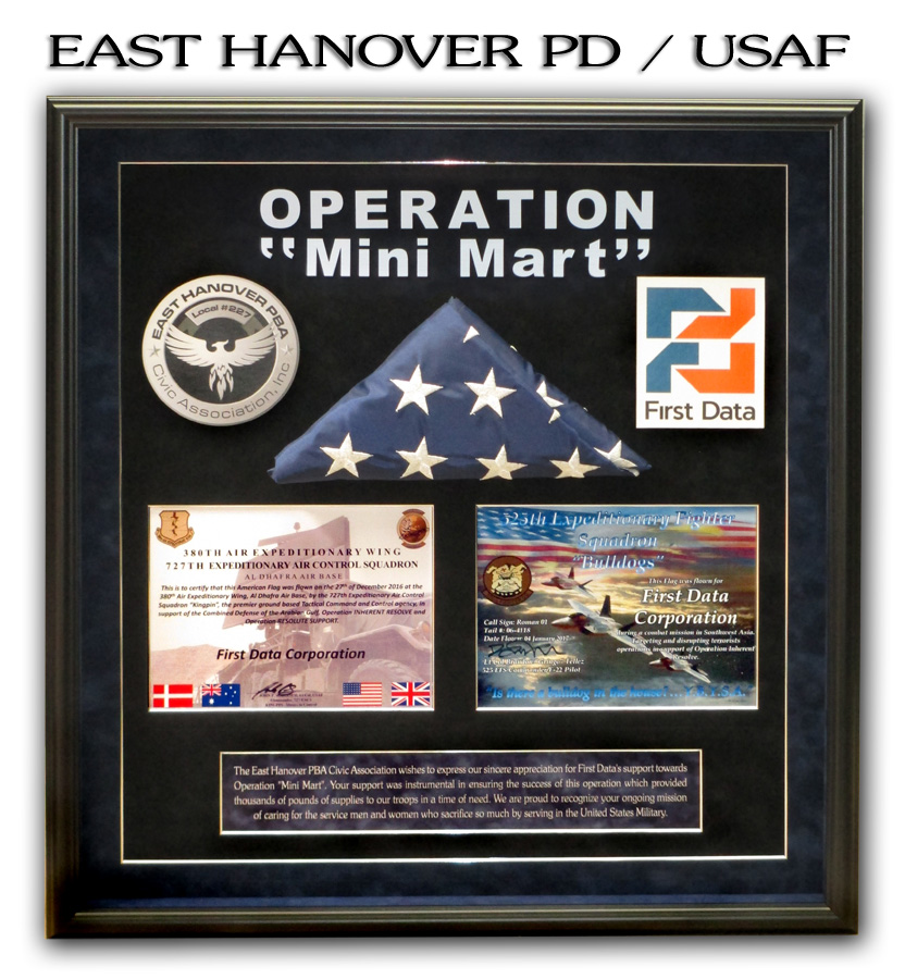 East Hanover PD / USAF Presentation from Badge Frame
