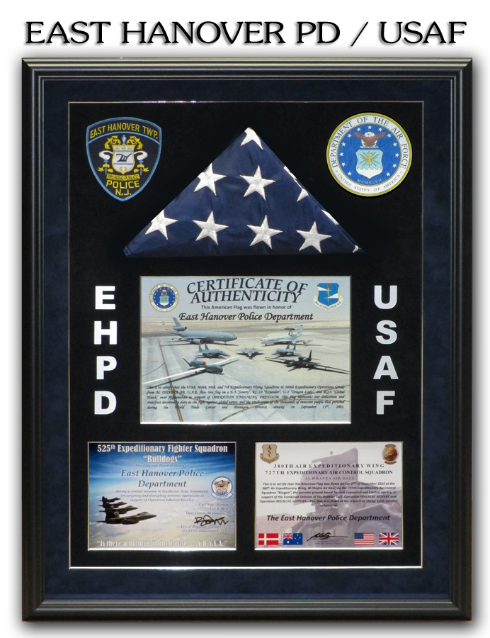 East Hanover PD - USAF Presentation from Badge Frame