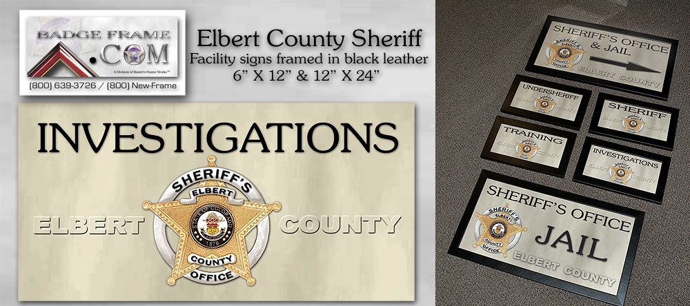 Elbert County Sheriff -               Signs