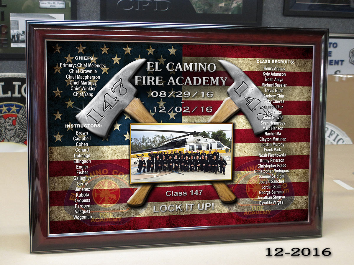 El Camino Fire Academy Prestation from Badge Frame 12-2016