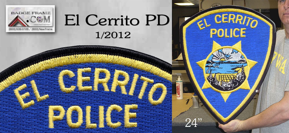 "ElCerrito PD           24"" Patch"