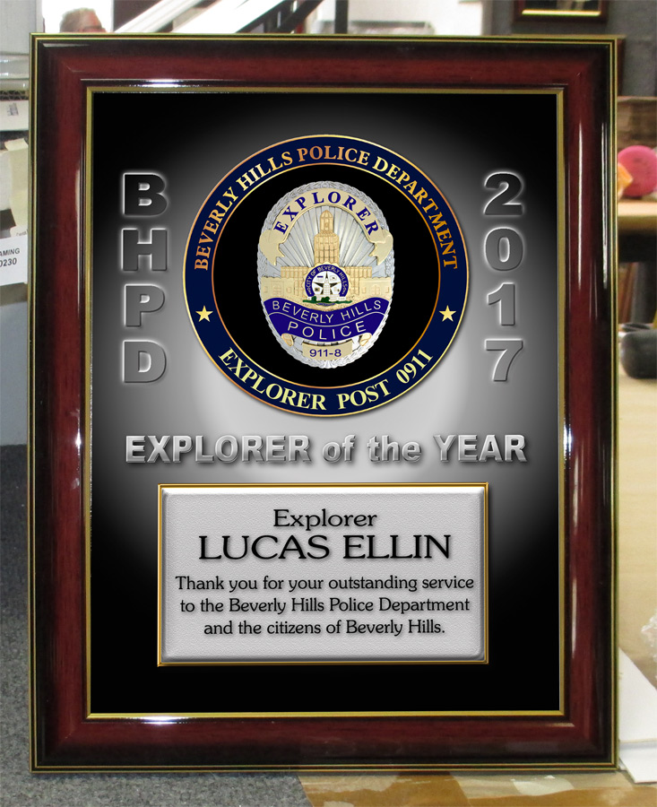 Ellin - Beverley Hills PD Explorer presentation from Badge Frame